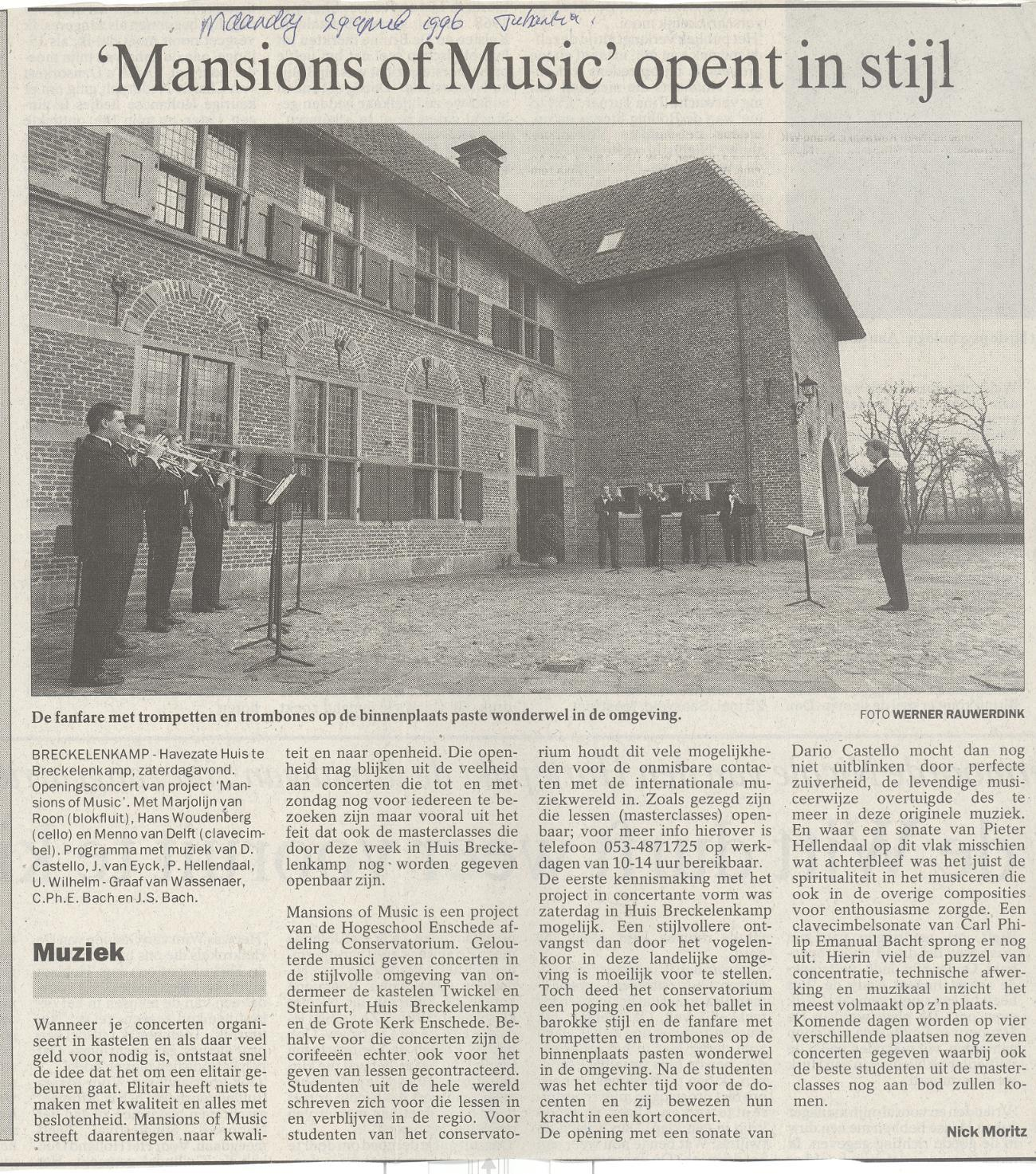 'Mansions of Music' opent in stijl